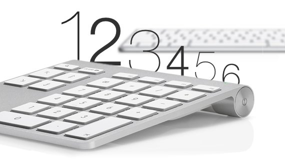 Nummernblöcke für Apple Keyboard und MacBook in der Übersicht