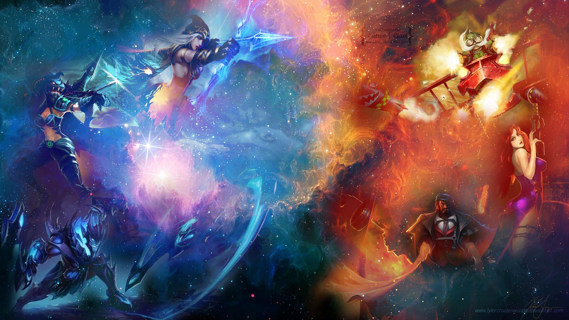 League of Legends Wallpaper - Bunter Champ-Mix - GIGA