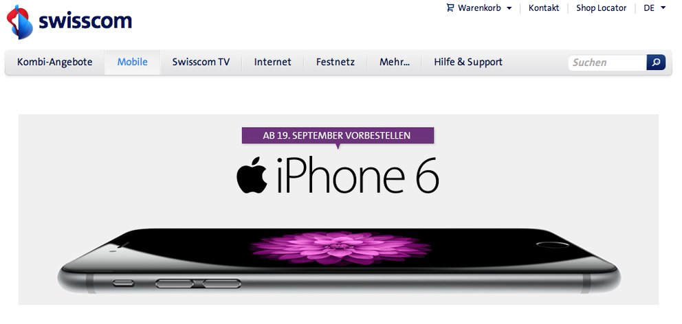 Swisscom iPhone 6