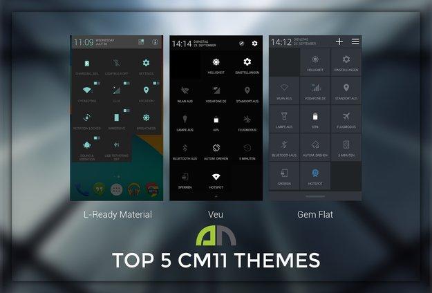 CyanogenMod 11-Themes: Top 5 Designs für das Custom ROM