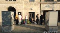 """Camper vor dem Apple Store: """"Online bestellen ist doch langweilig"""""""
