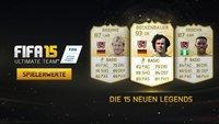 FIFA 15 Ultimate Team: Spielerstärken der neuen Legenden
