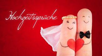 Sprüche zur Hochzeit für WhatsApp, Facebook und Co.