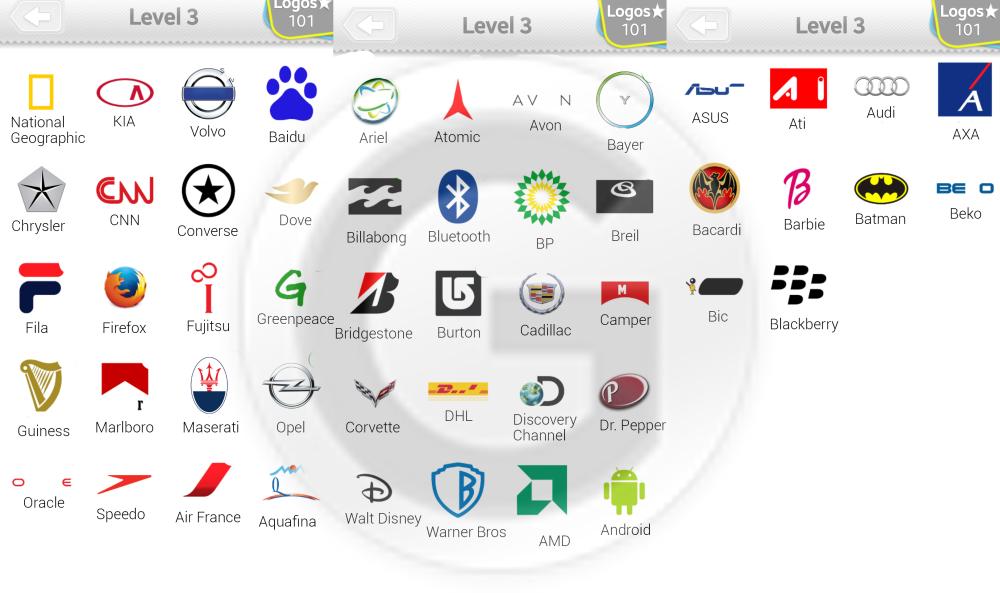 Logo Quiz Lösungen Level 3 - GIGA