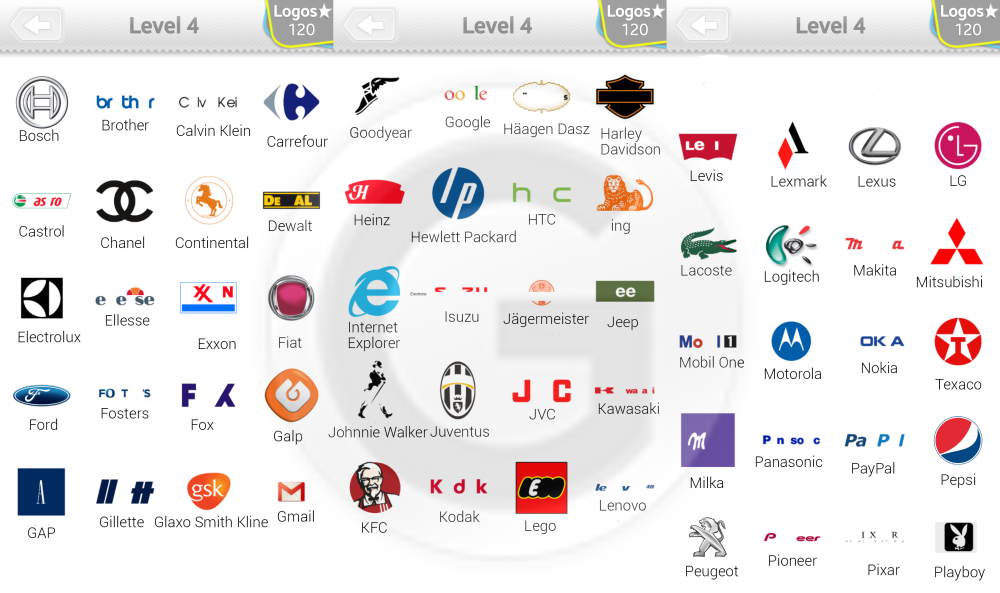 Image Gallery logos level 4