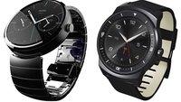Moto 360 vs. LG G Watch R: Technische Daten im Vergleich