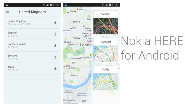 Nokia HERE: Entwicklung für Android und iOS an erster Stelle; Offline-Navigation soll kostenlos bleiben