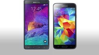 Samsung Galaxy Note 4 vs Samsung Galaxy S5: Groß oder größer gefällig