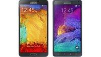 Samsung Galaxy Note 4 vs. Galaxy Note 3: Technische Daten im Vergleich
