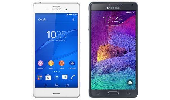 Vergleich: Samsung Galaxy Note 4 vs. Sony Xperia Z3