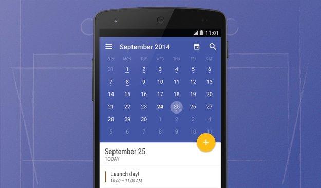 Today Calendar: Neues Update bringt Android L-Anstrich im Material Design