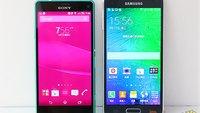 Sony Xperia Z3 Compact: Größenvergleich mit iPhone 6 & Samsung Galaxy Alpha