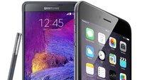 iPhone 6 Plus vs. Galaxy Note 4: Technische Daten im Vergleich
