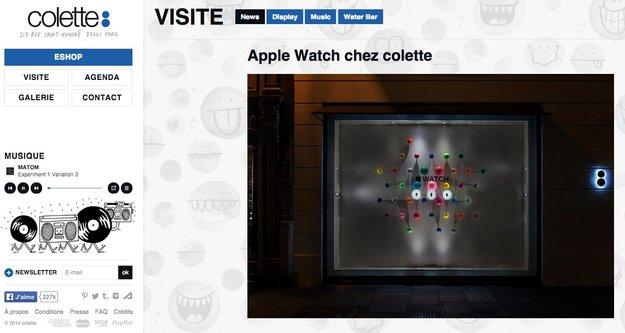 Apple Watch heute bei Colette in Paris zu sehen