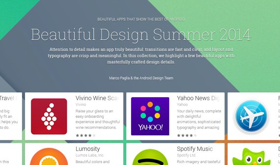 Beautiful Design Summer: Google kürt schönste Apps im Play Store