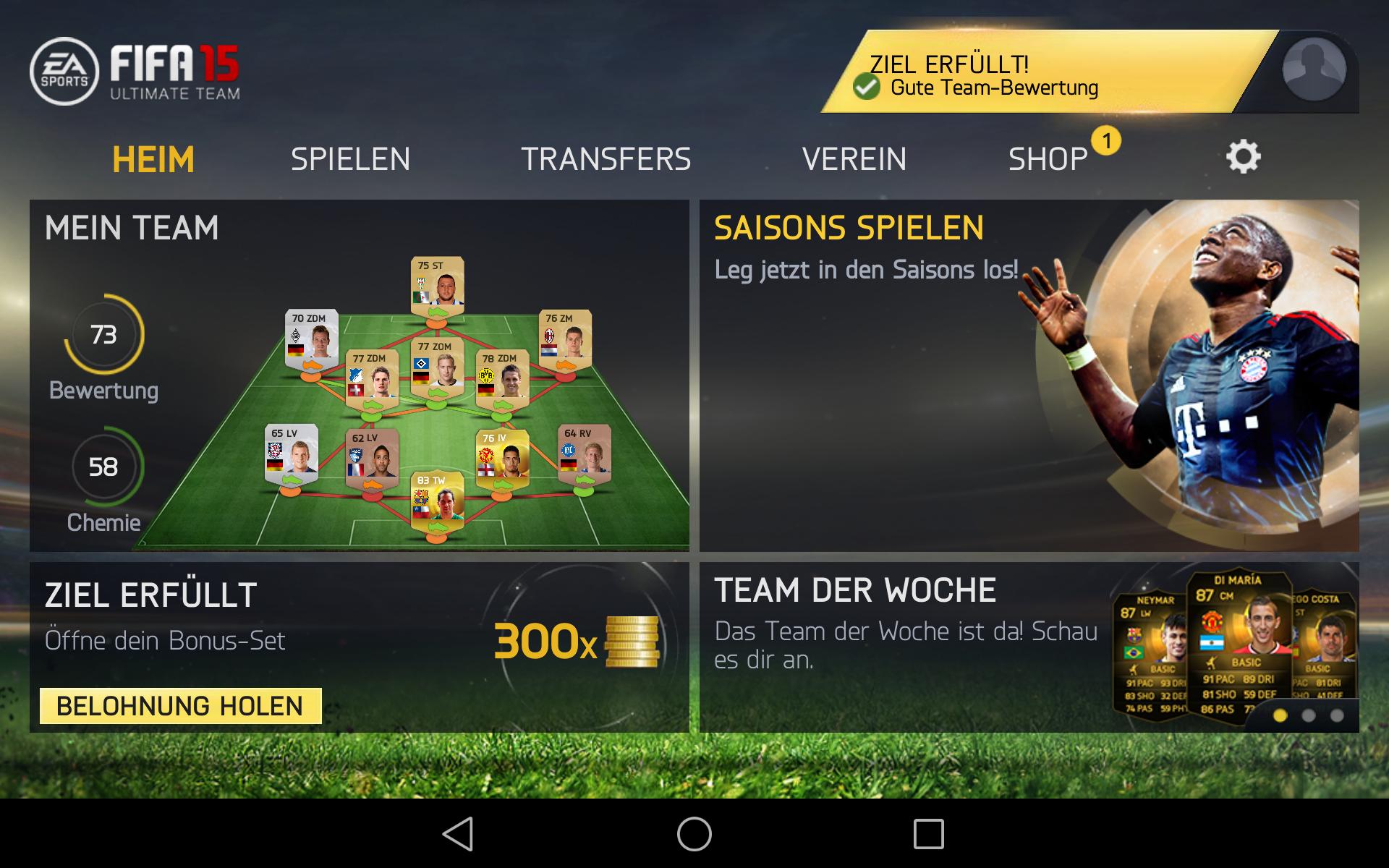 Fifa 15 Ultimate Team Fußballsimulation Für Android Erschienen Giga