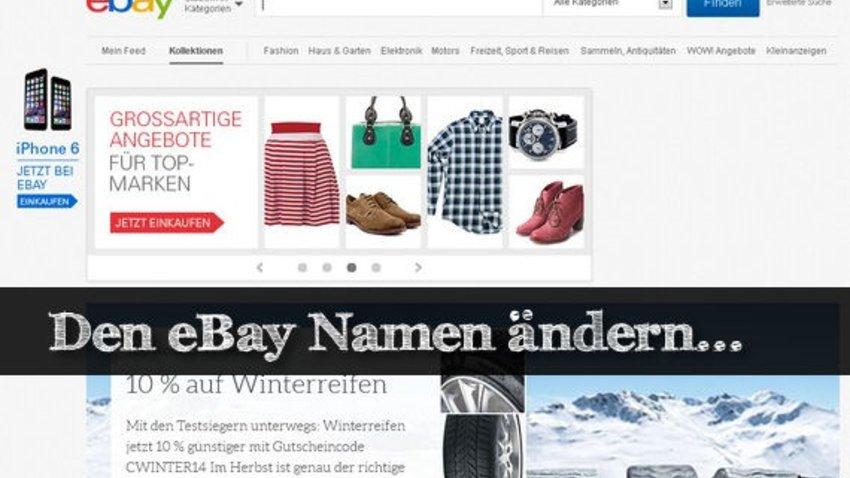 Ebay Profil ändern