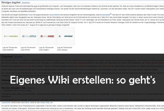 Wiki erstellen: so geht es kostenlos online oder mit Software