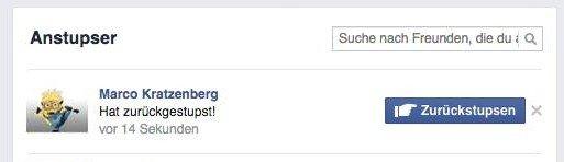 Machen facebook rückgängig anstupsen bei Bei facebook