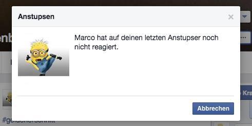 Anstupsen auf facebook geht nicht mehr