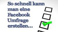Facebook-Umfrage erstellen – alt und neu