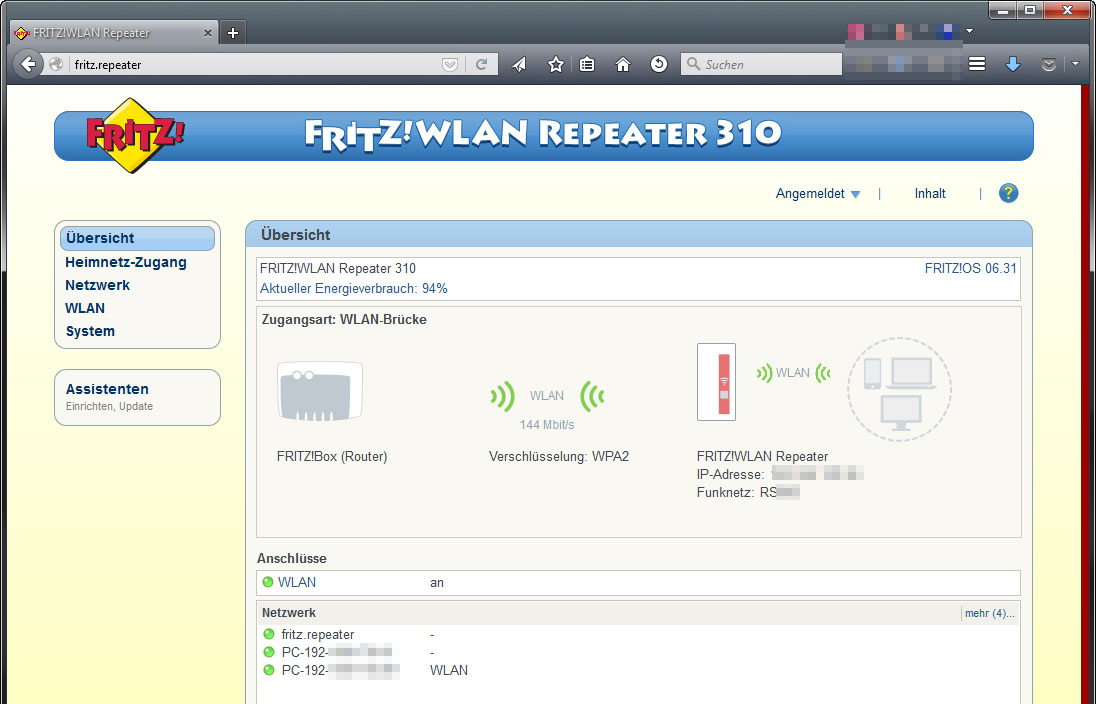 FritzBox WLAN Repeater 310 Instructions & Setup - YouTube