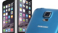 Samsung Galaxy S5, iPhone 6 und iPhone 6 Plus im Vergleich