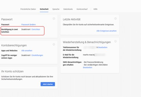 google-authenticator-einrichten