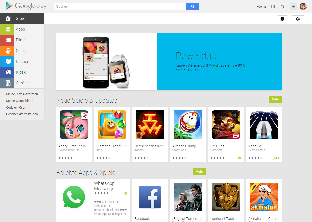 Google Play Bezahlmethoden