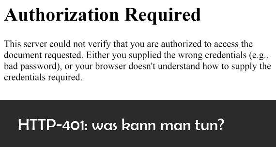 """HTTP-Fehler 401 """"Unauthorized"""": Bedeutung und Erklärung"""