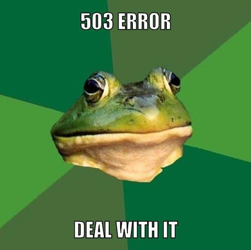 HTTP-Fehler 503? Ist halt so...