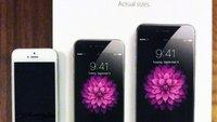 iPhone 6 (Plus): Printwerbung zeigt beide Modelle in Lebensgröße