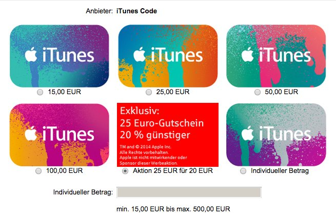 iTunes-Aktion Sparkasse 01