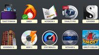 Software-Bundle für Mac mit Roxio Toast, Tonality, Scrivener, Bookends und SimCity