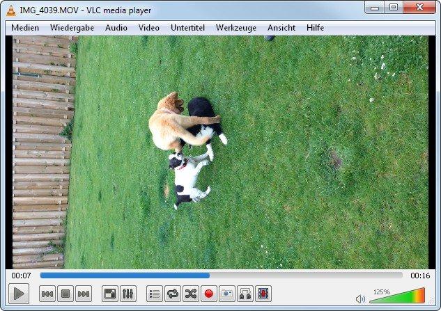 VLC ist gut als MOV-Player, hat aber ein Ausrichtungsproblem
