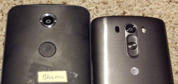 """Nexus 6/X: Angebliches erstes Fotos des """"Shamu"""", Größenvergleich mit dem LG G3"""