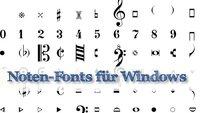 Noten-Fonts Fughetta und Toccata