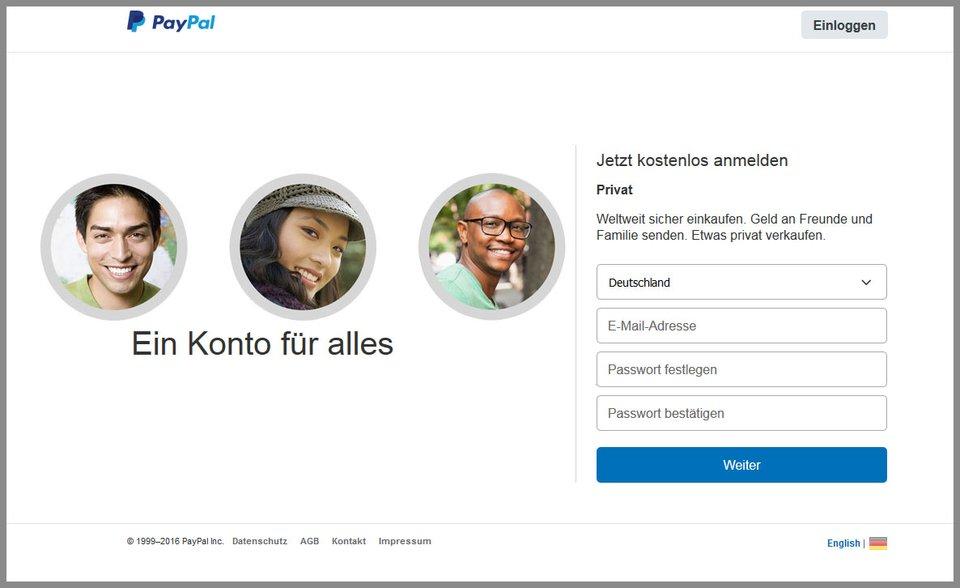 Privates Paypal Konto Erstellen