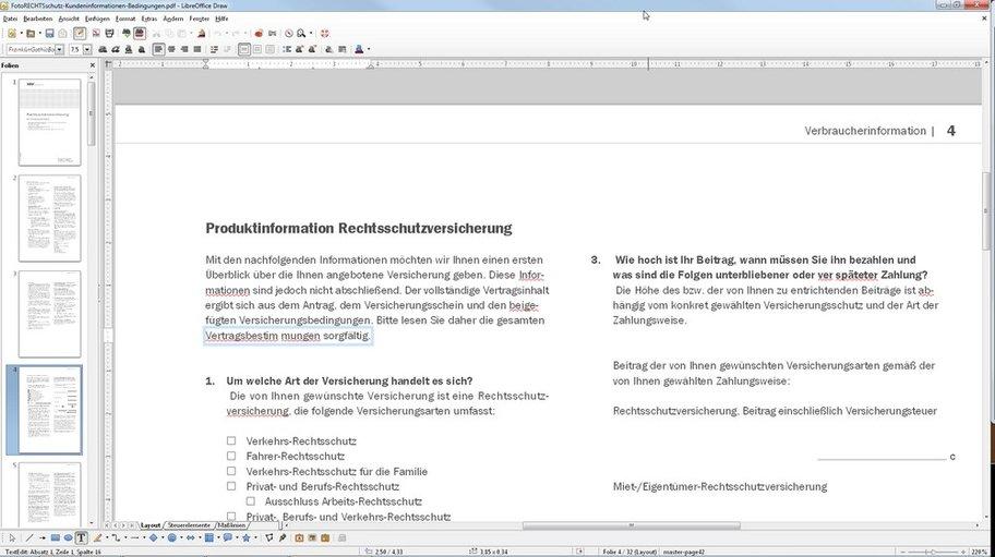 Mit LibreOffice können wir ein PDF ändern