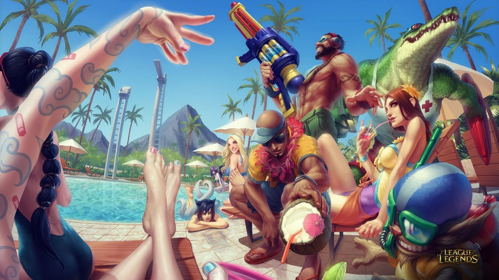 League of Legends Wallpaper - Pool Party