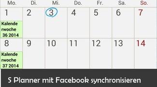 S Planner: Kalender mit Facebook verbinden.