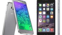 Samsung Galaxy Alpha, iPhone 6 und iPhone 5s im Vergleich