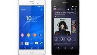 Sony Xperia Z3 vs. Xperia Z2: Technische Daten im Vergleich
