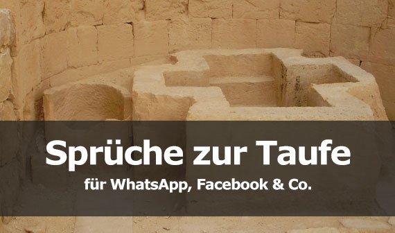 Sprüche zur Taufe für WhatsApp, Facebook & Co.