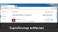 SupraSavings entfernen aus Firefox und Google Chrome