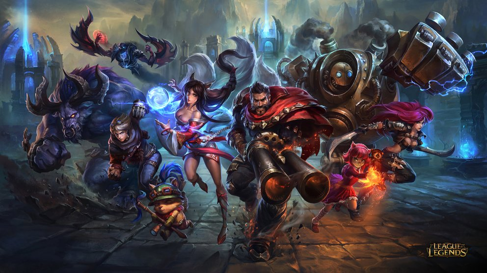 League of Legends Wallpaper - Blitzcrank, Katarina, Annie, Graves, Ahri, Teemo, Ezreal, Nocturne, Alistar
