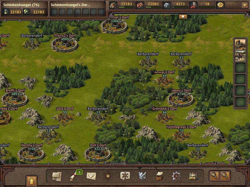 Tribal Wars 2: Auf der Übersichtskarte plant ihr eure nächsten Züge.