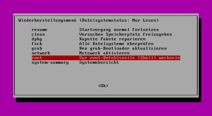 Ubuntu Passwort Vergessen