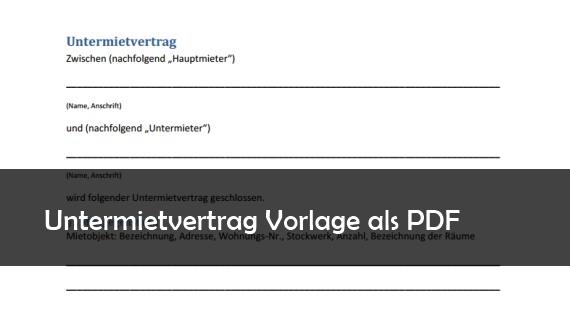 Untermietvertrag Muster Vorlage PDF Download – GIGA