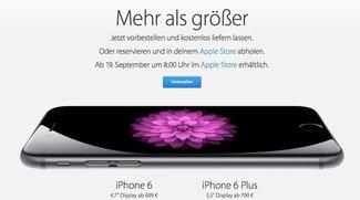 iPhone 6 vorbestellen bei o2, Telekom, Vodafone und Apple: Ab sofort möglich! (Update: Nun inkl. Händler)